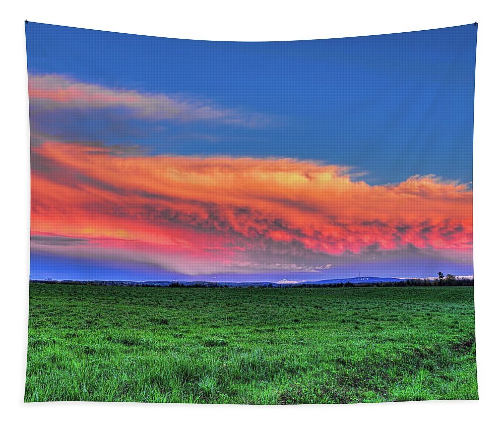 Dale Kauzlaric Tapestry featuring the photograph Spring Storm Over Wausau by Dale Kauzlaric