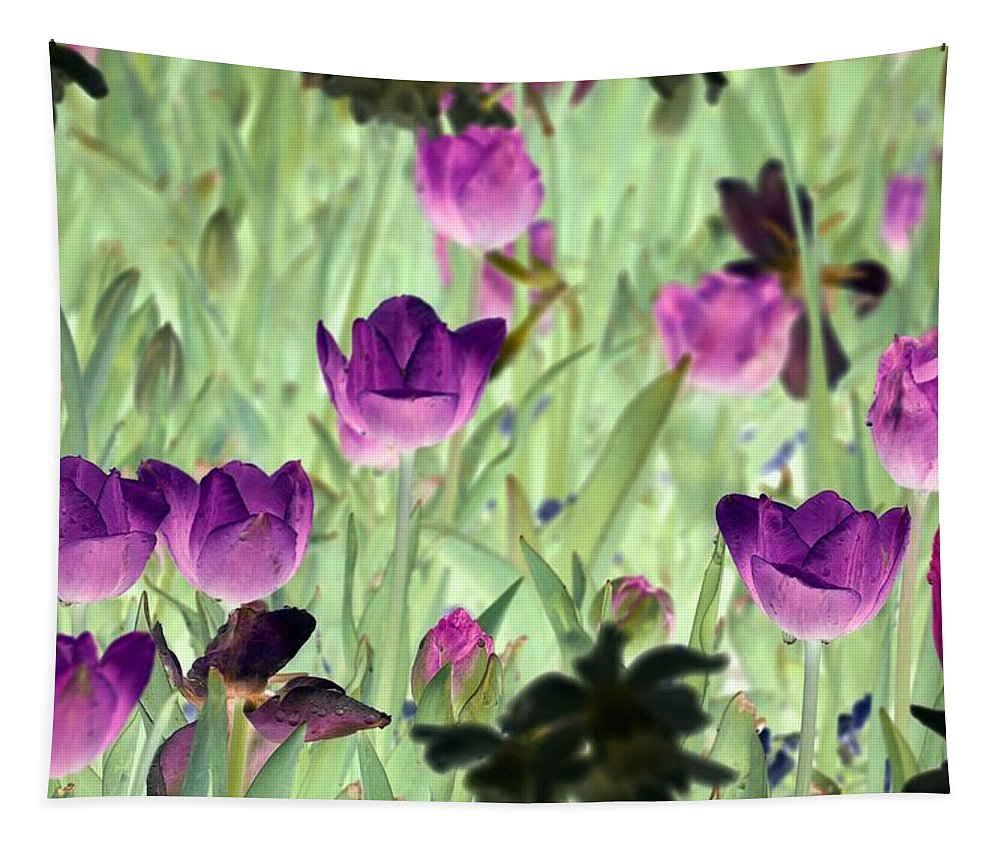 Tulip Tapestry featuring the photograph Spring Tulips - Photopower 3051 by Pamela Critchlow