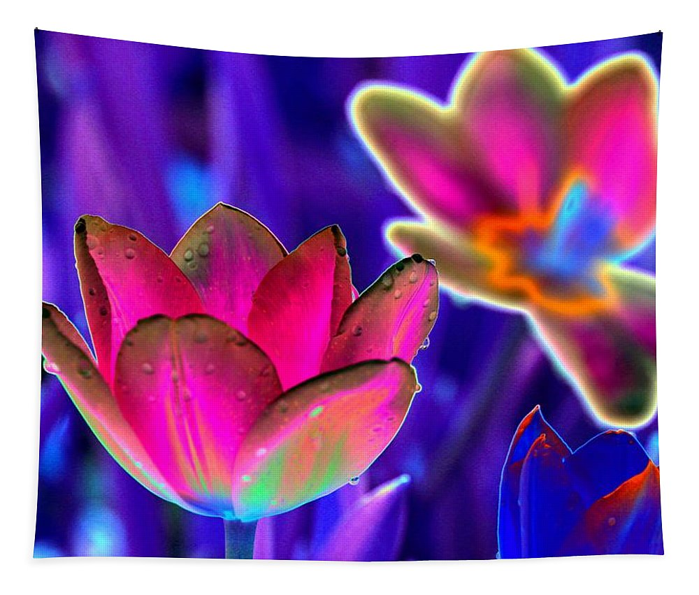 Tulip Tapestry featuring the photograph Spring Tulips - Photopower 3152 by Pamela Critchlow