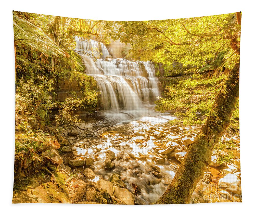 Waterfall Tapestry featuring the photograph Spring Waterfall by Jorgo Photography - Wall Art Gallery