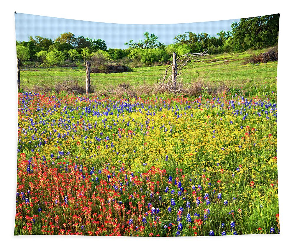 Springtime Tapestry featuring the photograph Spring's Floral Quilt by Lynn Bauer
