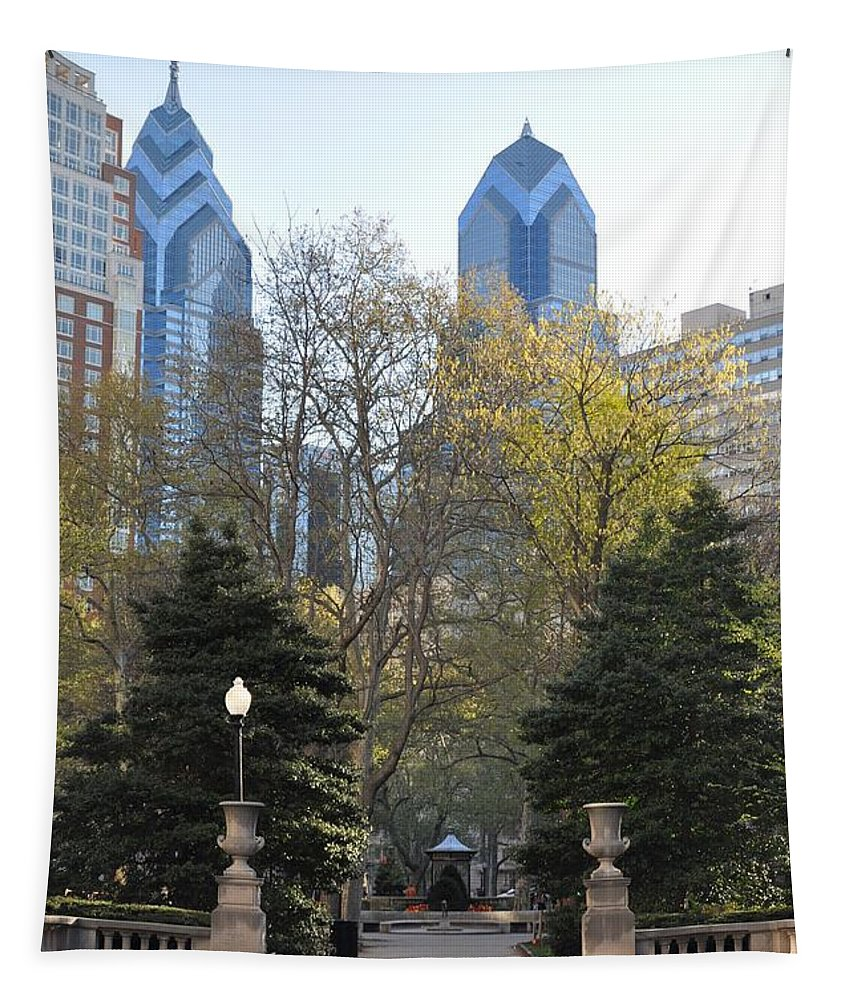 Sprintime At Rittenhouse Square Tapestry featuring the photograph Sprintime At Rittenhouse Square by Bill Cannon