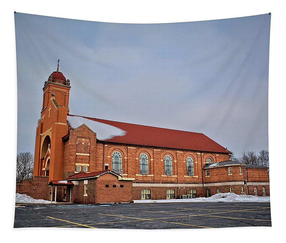 St Bernards Tapestry featuring the photograph St Bernards Church by Bonfire Photography