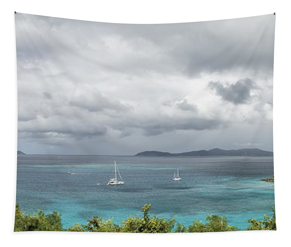 Trunk Bay Tapestry featuring the photograph St John - What's Not To Love by Belinda Greb