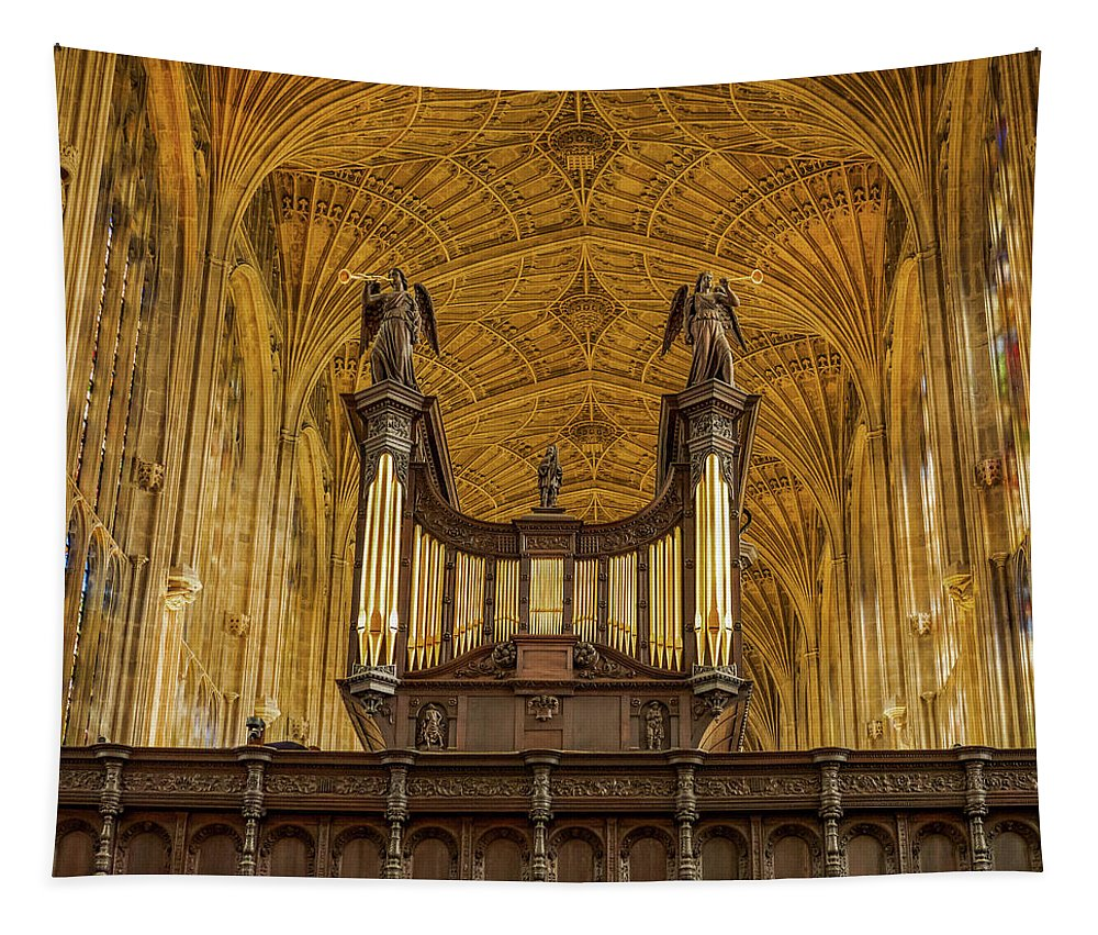 Jean Noren Tapestry featuring the photograph Kings College Chapel by Jean Noren