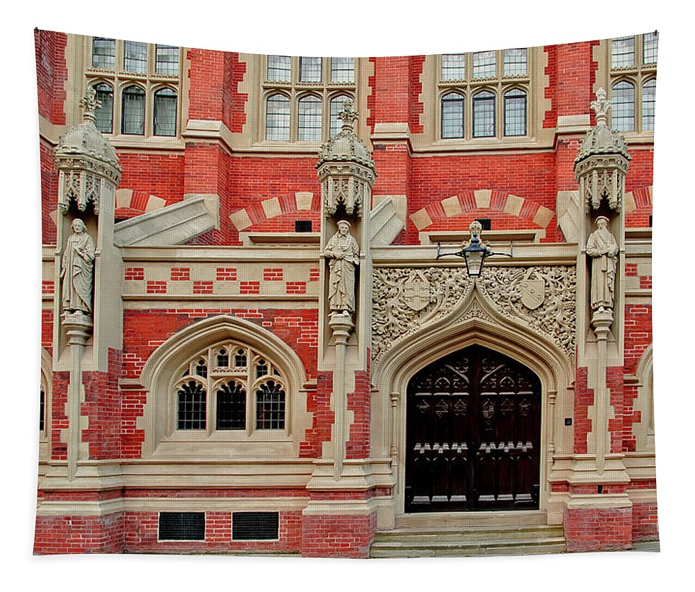 St. Johns College. Cambridge Tapestry featuring the photograph St. Johns College. Cambridge. by Elena Perelman