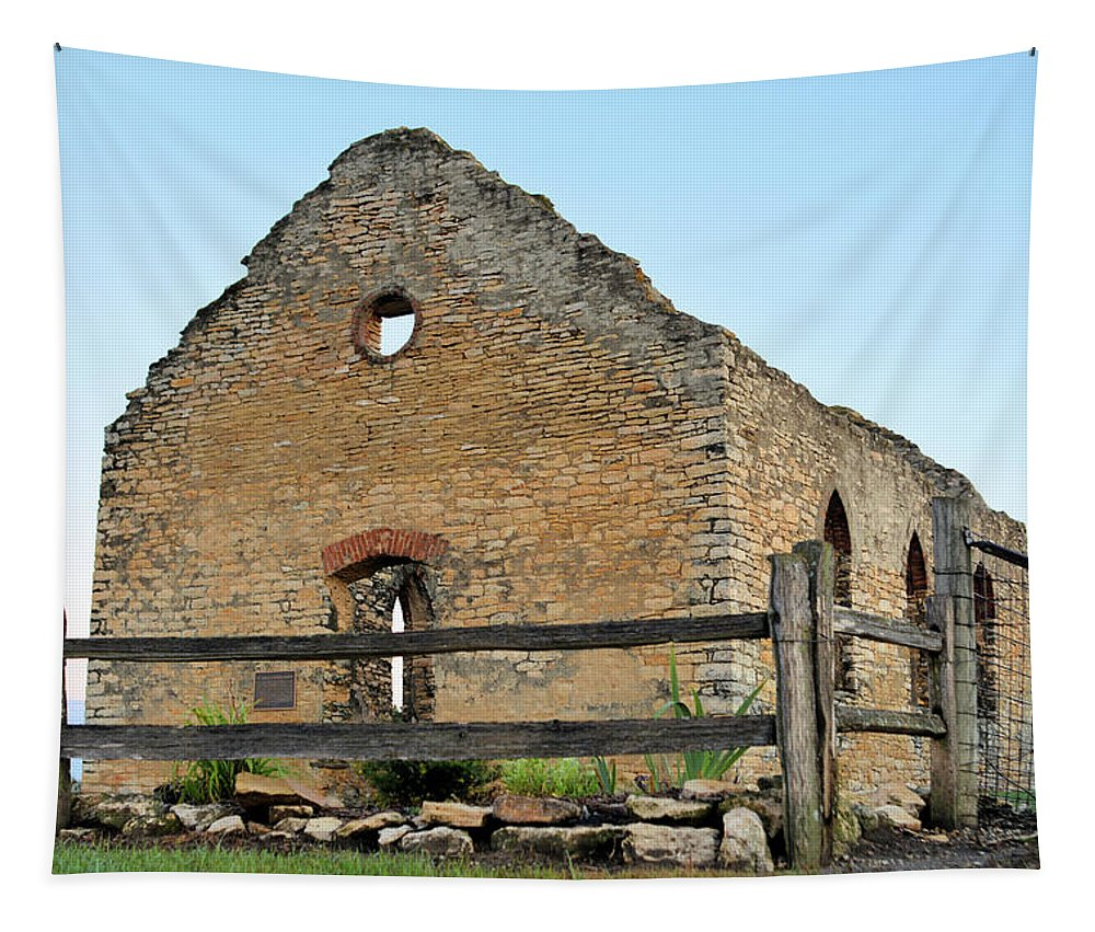 Abandoned Tapestry featuring the photograph St. John's Lutheran Church by Bonfire Photography