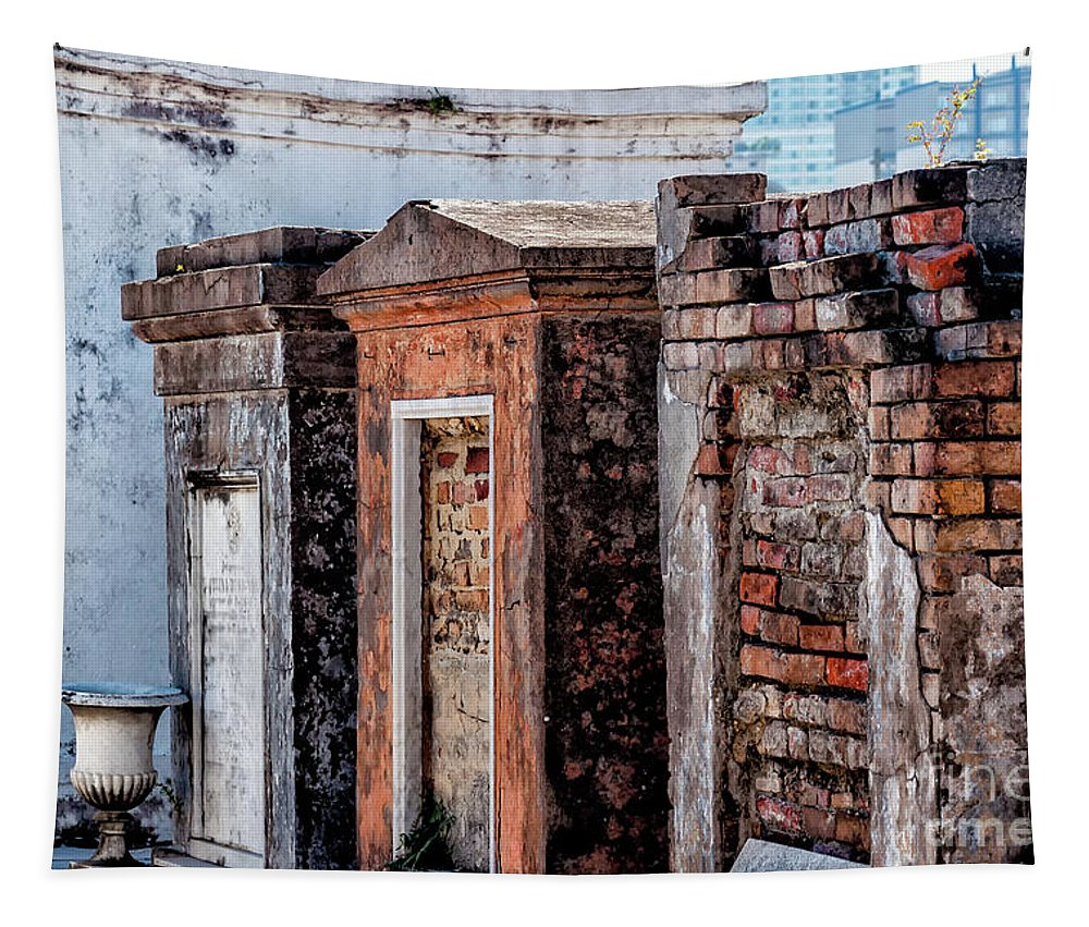 New Orleans Tapestry featuring the photograph St. Louis 1 Tombs--nola by Kathleen K Parker