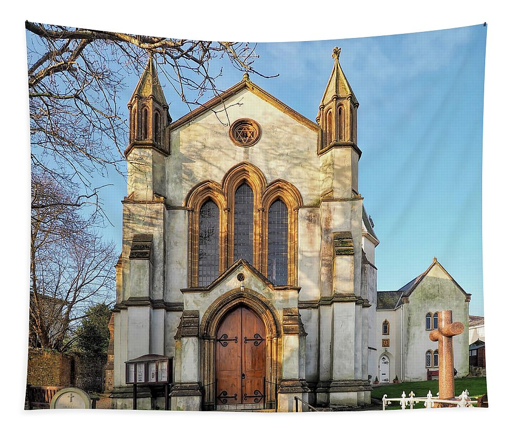 St-michael Tapestry featuring the photograph St Michael And St George R.c Church - Lyme Regis by Susie Peek