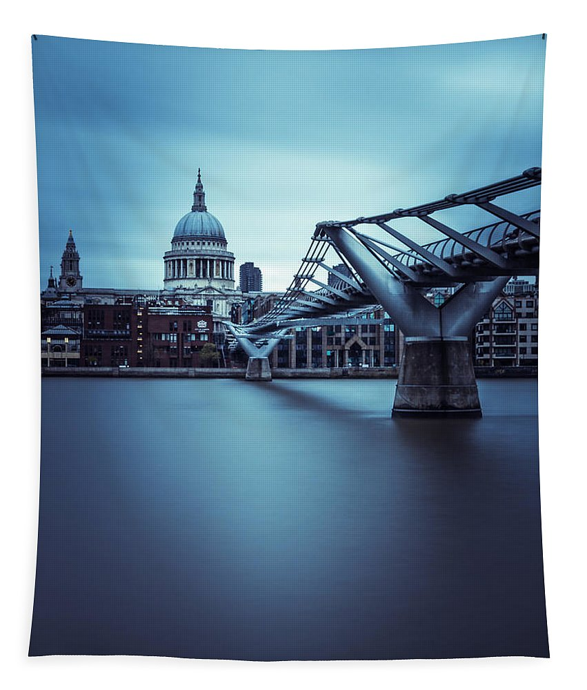 London Tapestry featuring the photograph St Pauls by Matt Malloy
