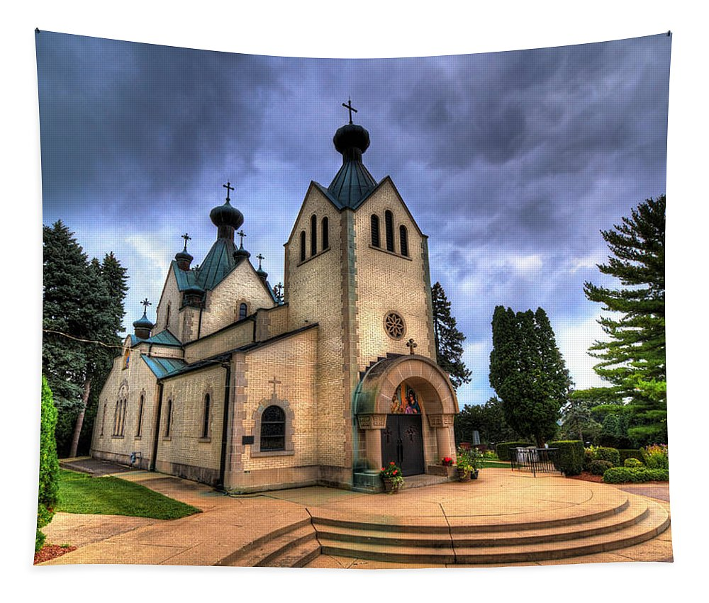 Church Tapestry featuring the photograph St. Sava by Robert Storost