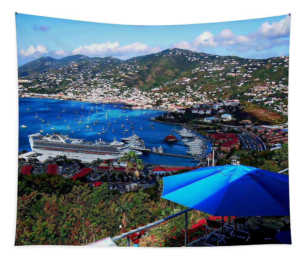 Eleuthra Tapestry featuring the photograph St. Thomas - Caribbean by Anthony Dezenzio