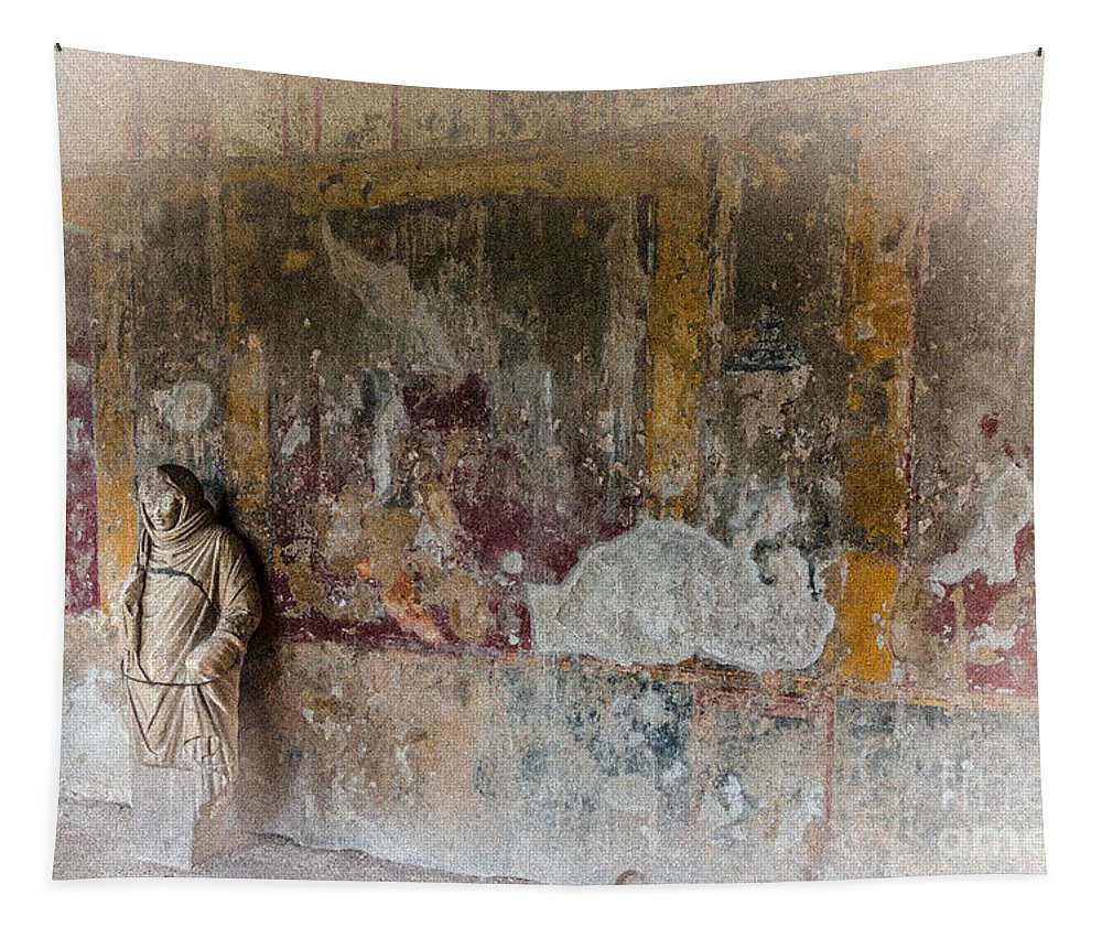 Ancient Tapestry featuring the photograph Stabian Baths - Pompeii 2 by Debra Martz