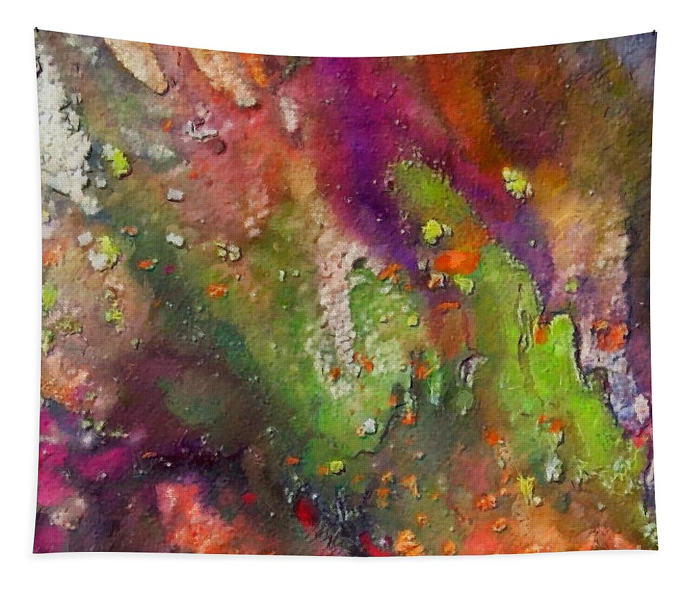 Standing Water Tapestry featuring the painting Standing Water by Dragica Micki Fortuna