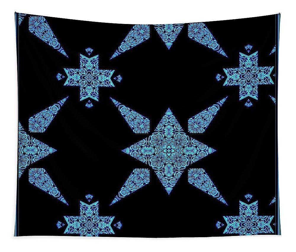 Black Tapestry featuring the digital art Star Light Star Bright by Debra Lynch