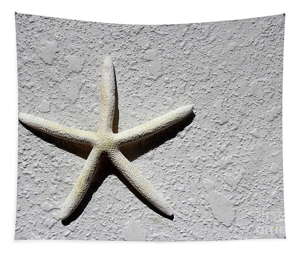 Abstract Tapestry featuring the photograph Starfish 2016 by Karen Adams