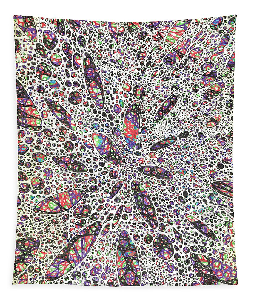 Pattern Tapestry featuring the painting Stars Give Birth To Color by Vincent Alexander Booth