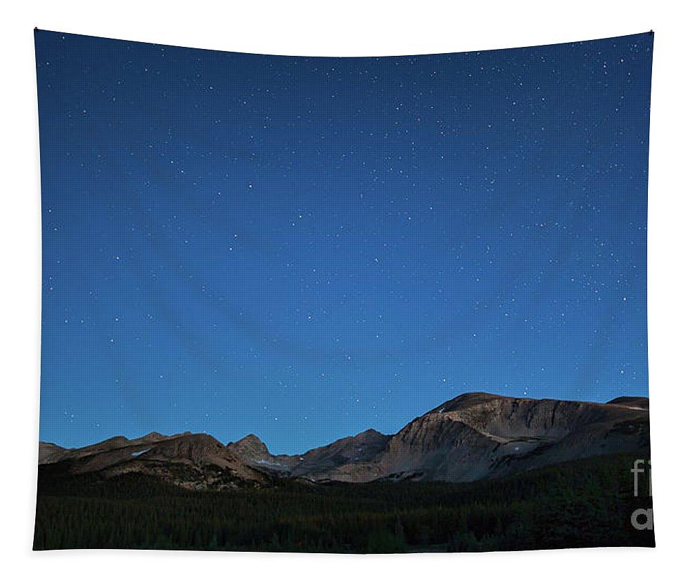 Brainard Lake Landscape Tapestry featuring the photograph Stars Over Brainard Lake by Jim Garrison