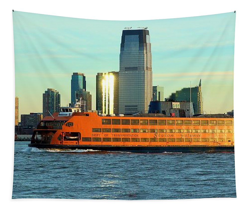 Staten Island Ferry Tapestry featuring the photograph Staten Isalnd Ferry Barberi by Robert McCulloch