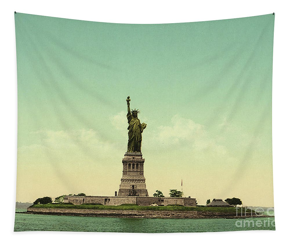 Statue Of Liberty Tapestry featuring the photograph Statue Of Liberty, New York Harbor by Unknown
