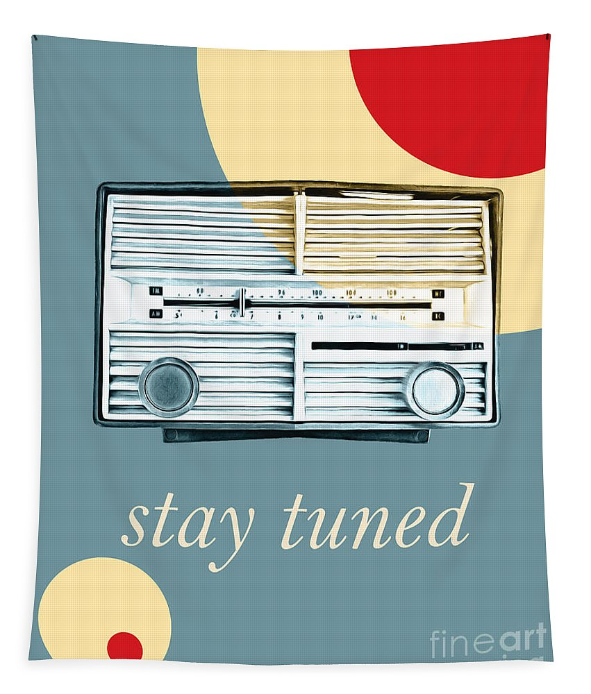 Vintage Tapestry featuring the photograph Stay Tuned by Edward Fielding