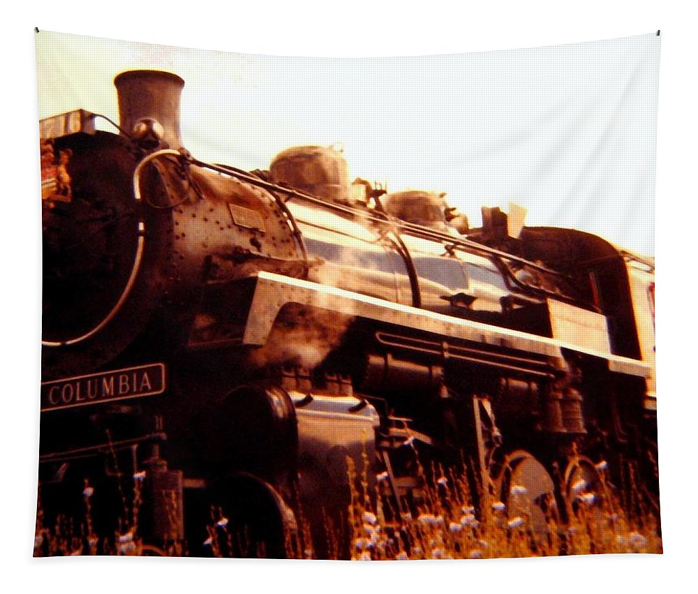#steamengine3716 Tapestry featuring the digital art Steam Engine 3716 by Will Borden