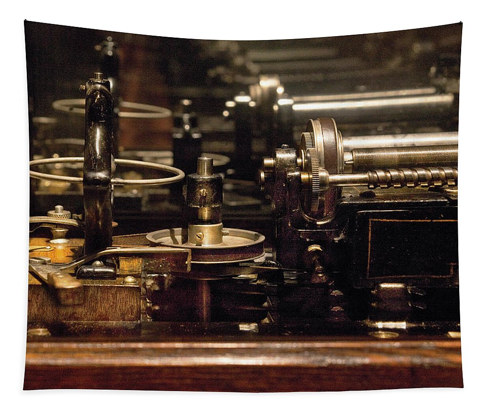 Savad Tapestry featuring the photograph Steam Punk - Diy Typewriter by Mike Savad