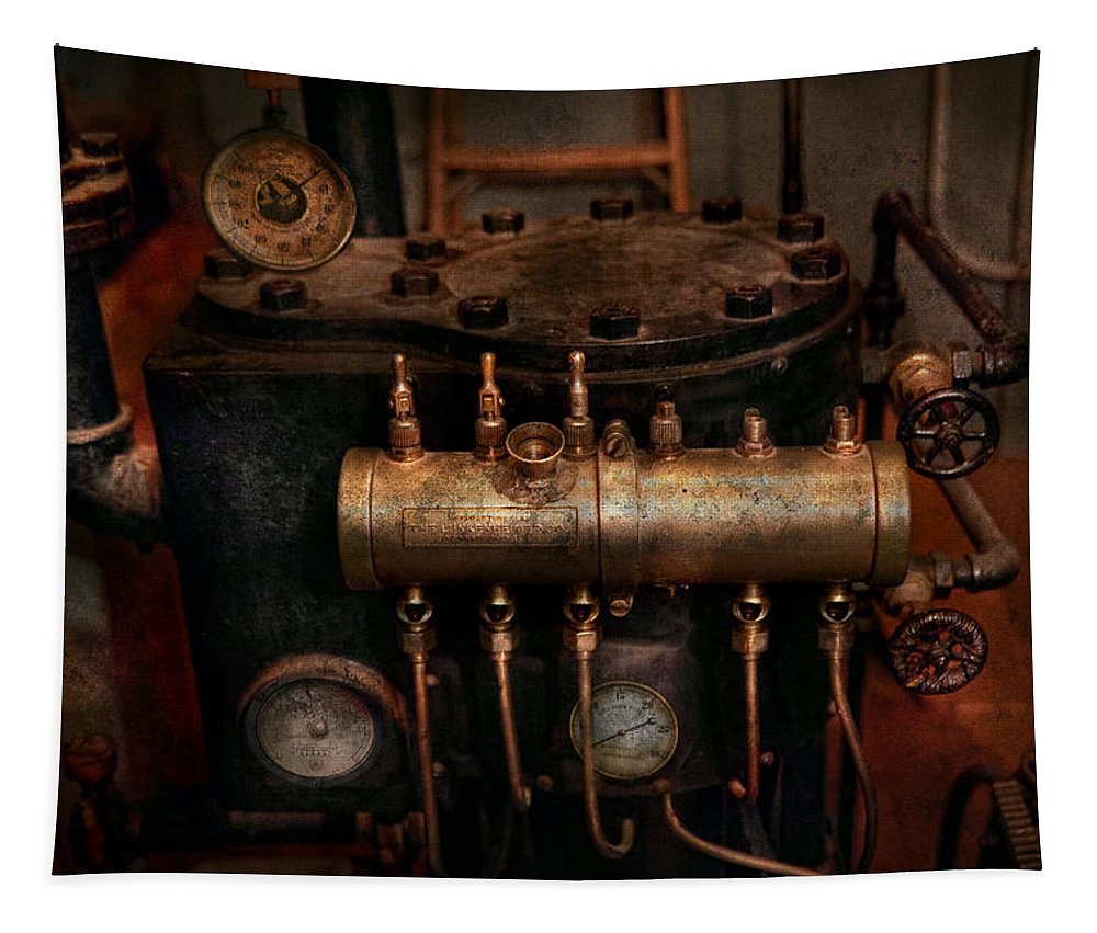 Steampunk Tapestry featuring the photograph Steampunk - Plumbing - The Valve Matrix by Mike Savad