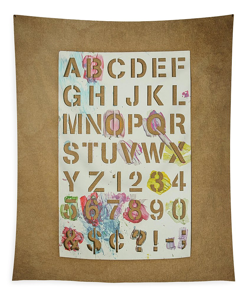 Stencil Tapestry featuring the photograph Stencil Alphabet Fun by Scott Norris