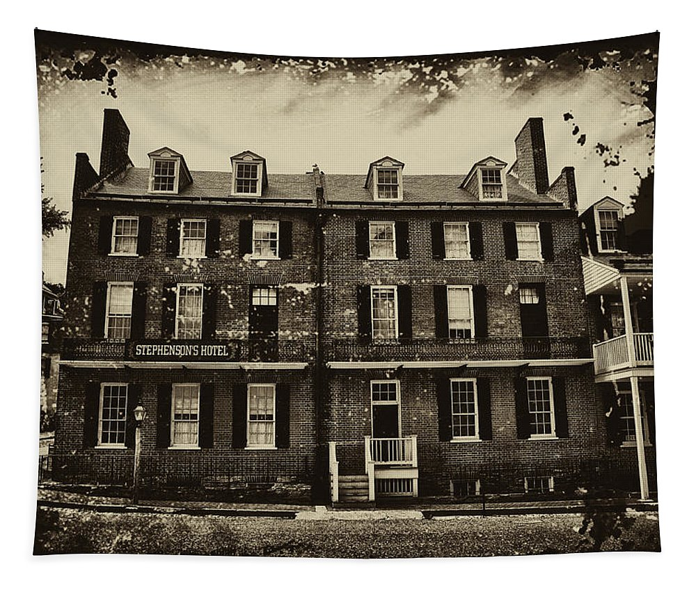 Harpers Ferry Tapestry featuring the photograph Stephenson's Hotel - Harpers Ferry by Bill Cannon