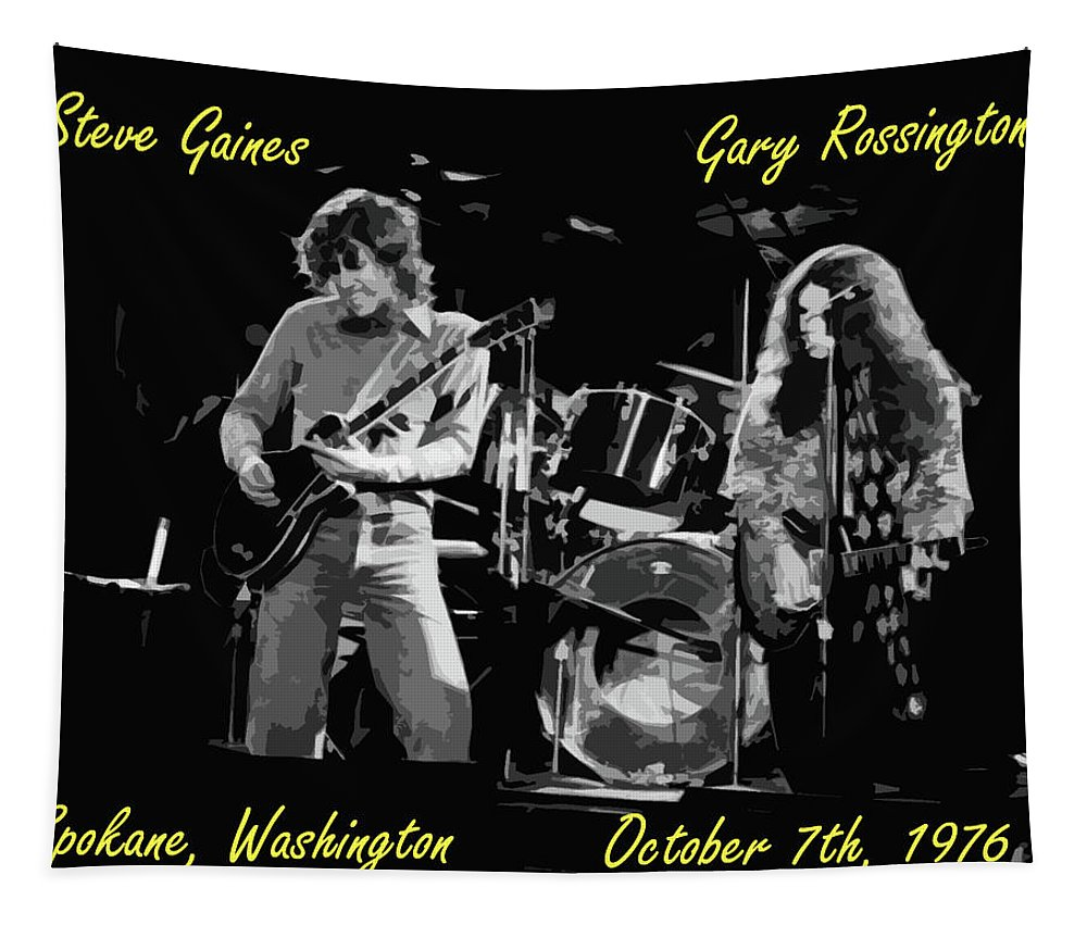 Lynyrd Skynyrd Tapestry featuring the photograph Steve And Gary In Spokane 2 by Ben Upham