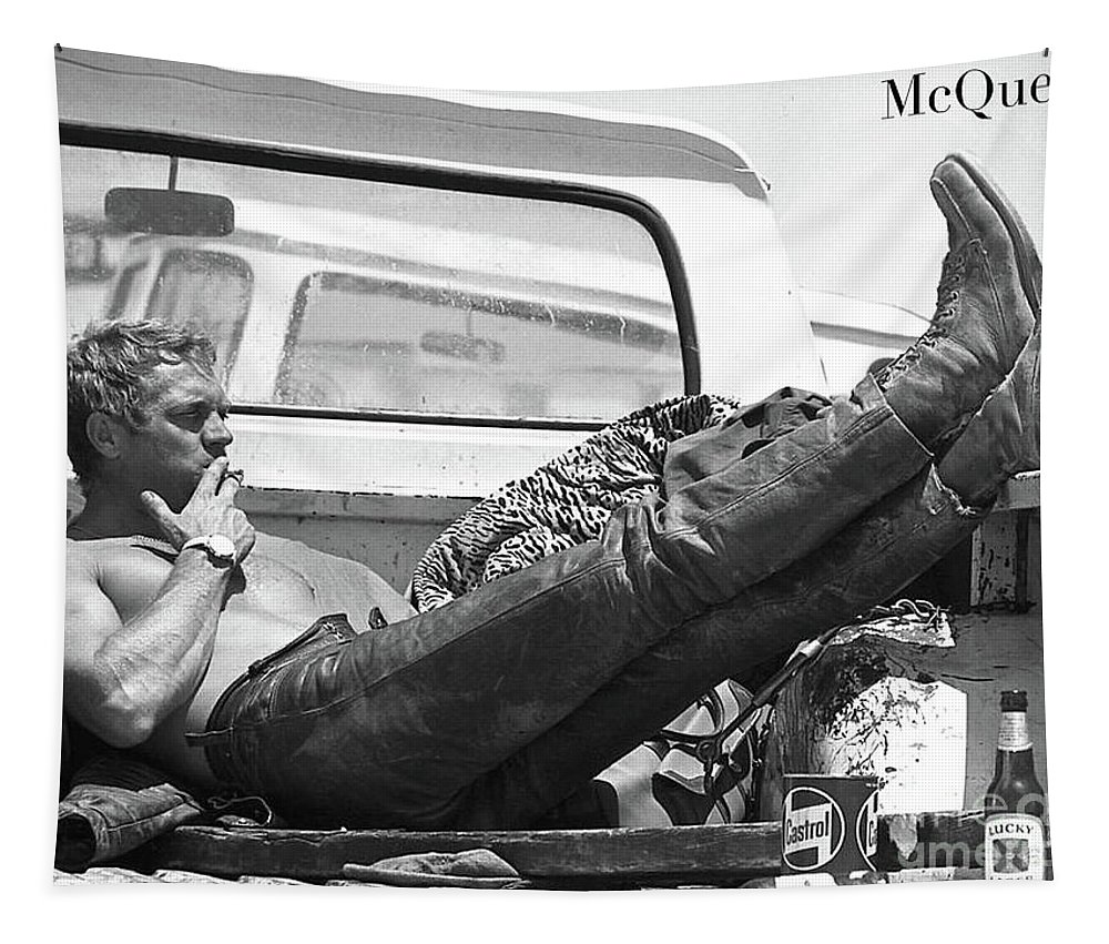 Steve Mcqueen Tapestry featuring the photograph Steve Mcqueen, Mojave Desert by Thomas Pollart