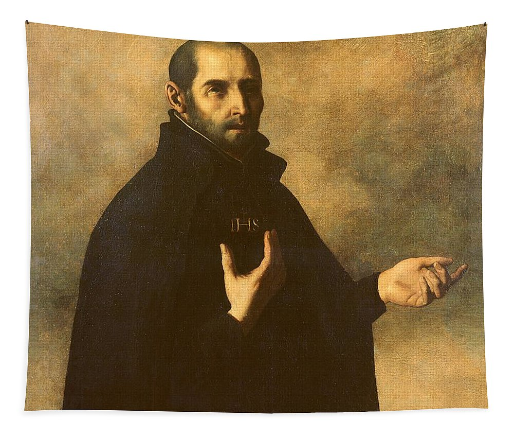 Ignatius Tapestry featuring the painting St.ignatius Loyola by Francisco de Zurbaran