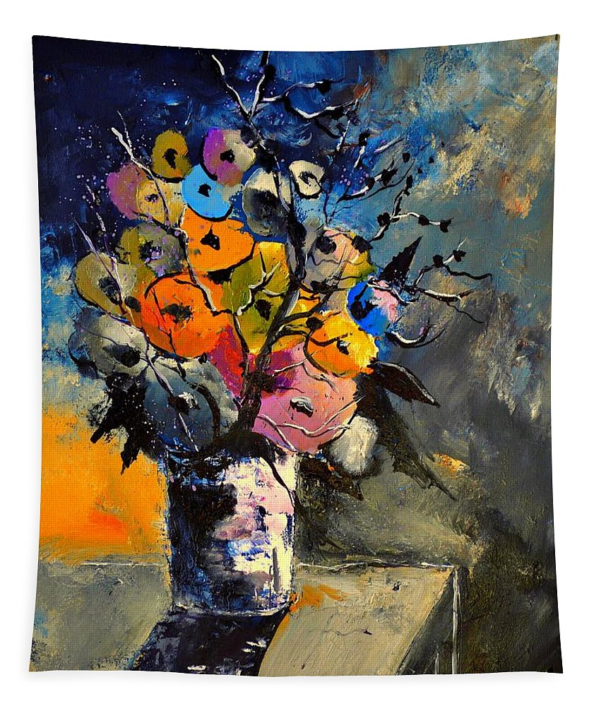 Still Life Tapestry featuring the painting Still Lfe 452363 by Pol Ledent
