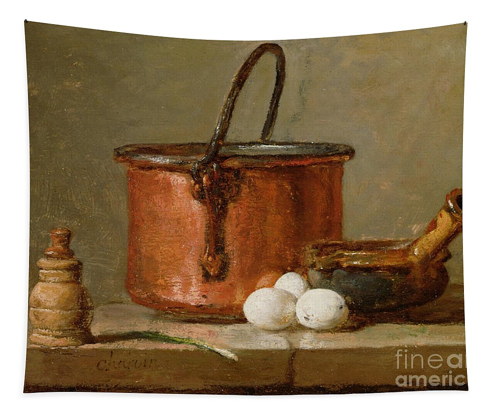 Still Tapestry featuring the photograph Still Life by Jean-Baptiste Simeon Chardin