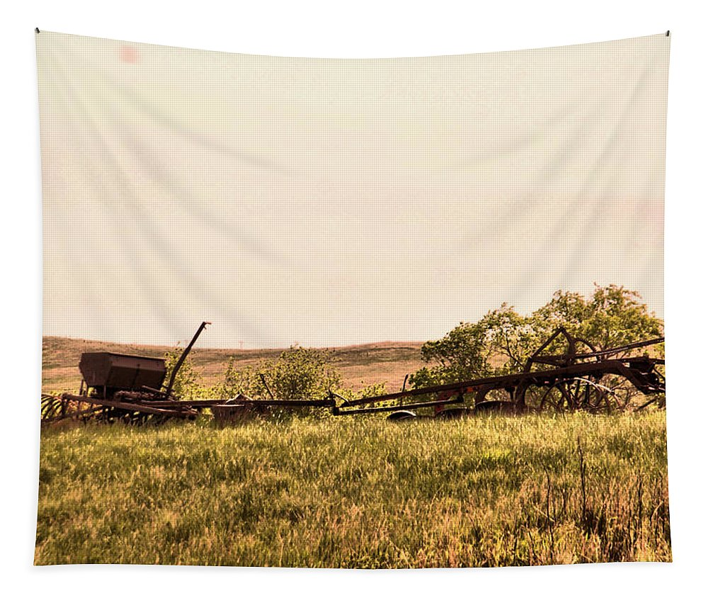 Agriculture Tapestry featuring the photograph Still Ready Of Work N North Dakota by Jeff Swan