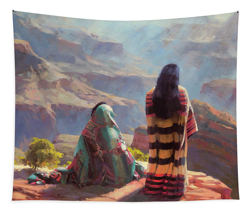 Southwest Tapestry featuring the painting Stillness by Steve Henderson