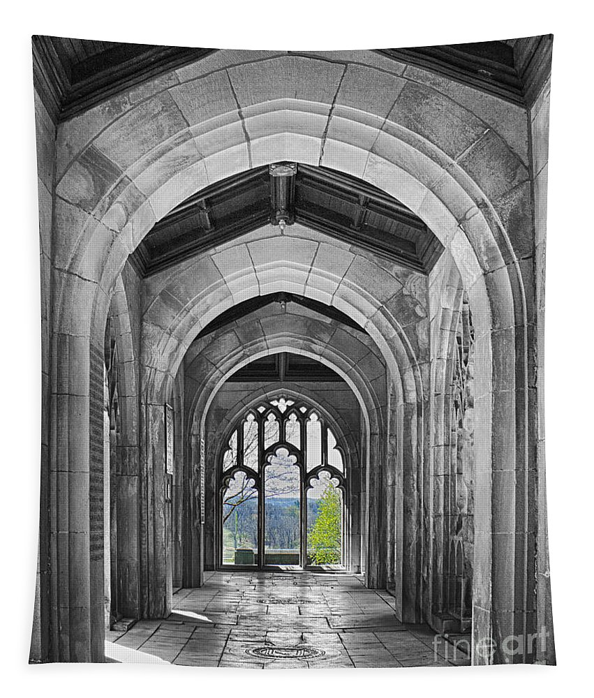 Stone Work Tapestry featuring the photograph Stone Archways by Tom Gari Gallery-Three-Photography