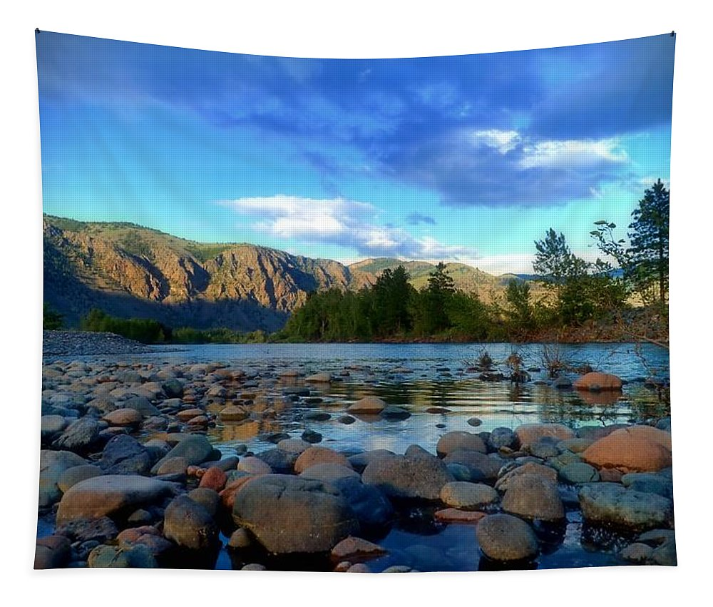 River Tapestry featuring the photograph Stones By The Similkameen by Tara Turner