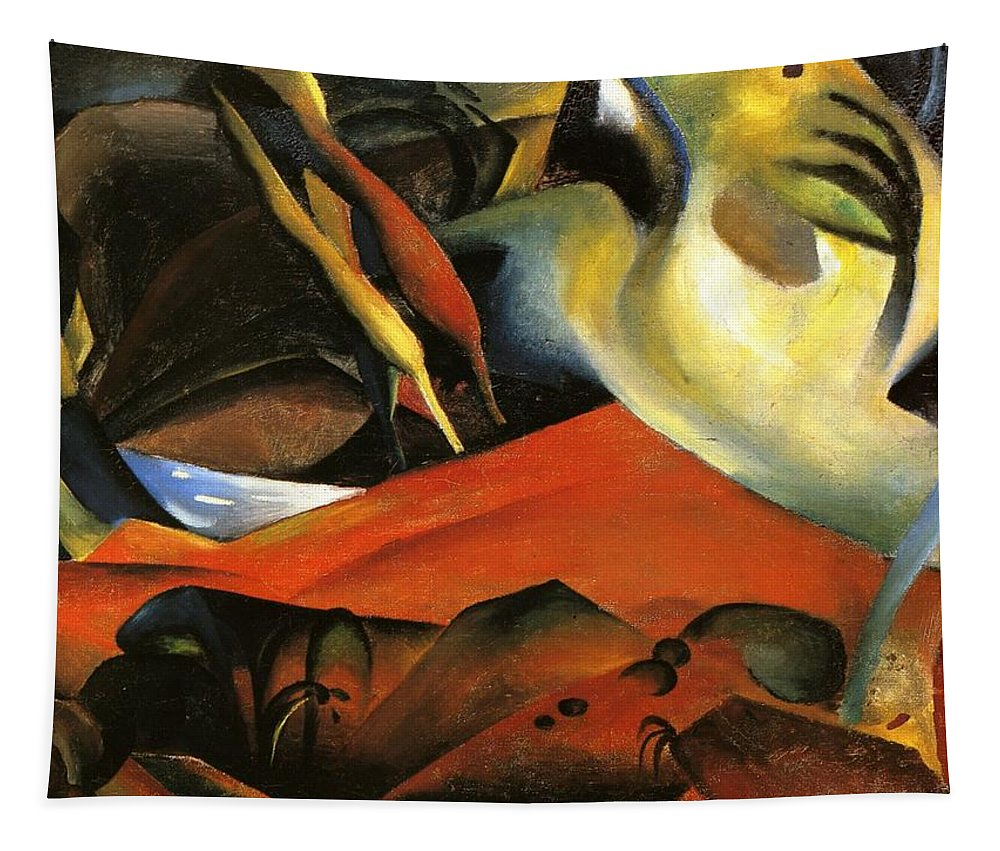 August Macke Tapestry featuring the painting Storm by August Macke