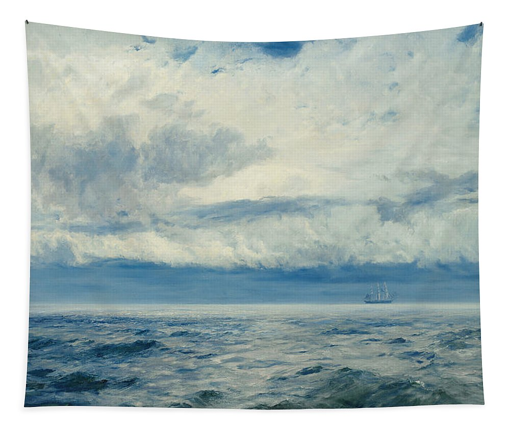 Storm Tapestry featuring the painting Storm Brewing by Henry Moore