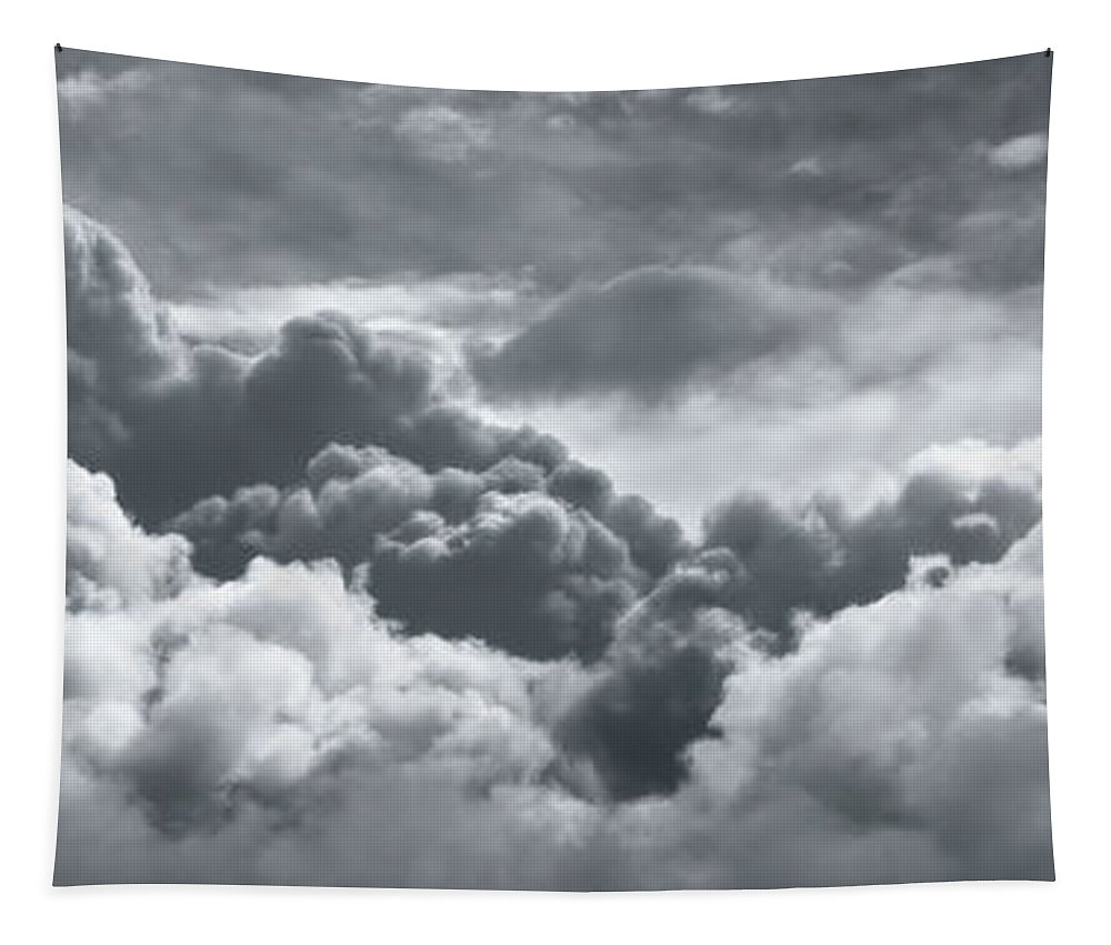 Weather Tapestry featuring the photograph Storm Clouds Over Sheboygan by Scott Norris