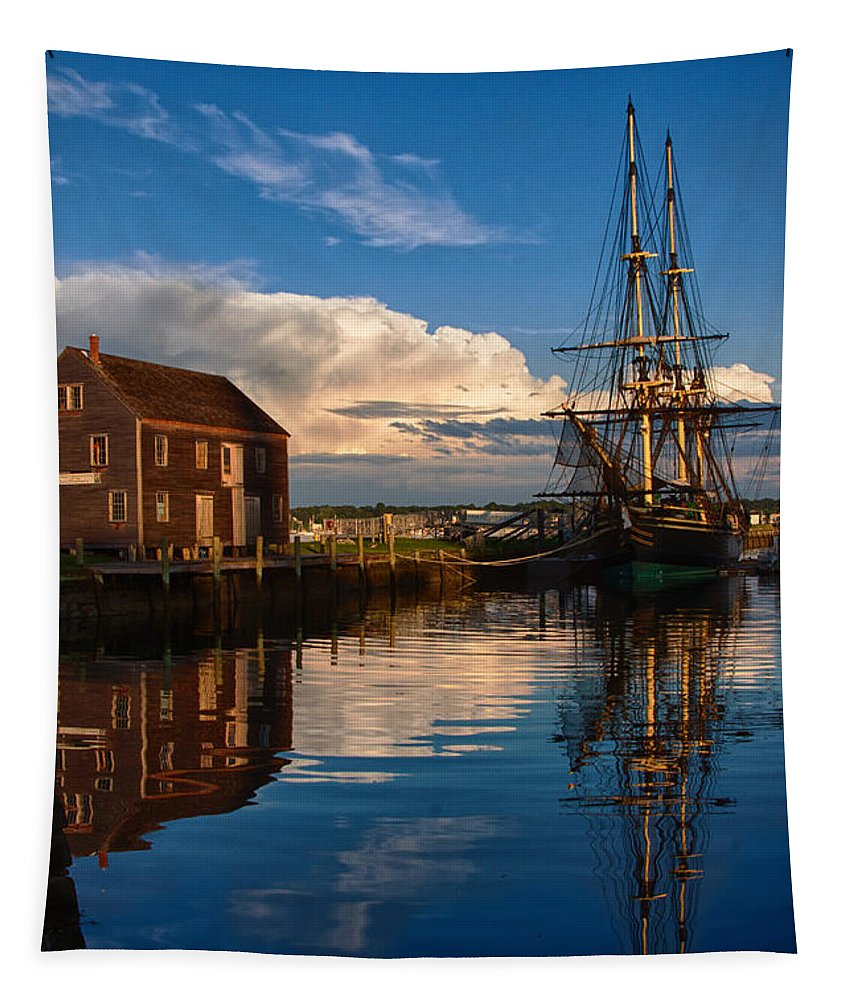 Salem Tapestry featuring the photograph Storm Leaves Reflection On Salem by Jeff Folger