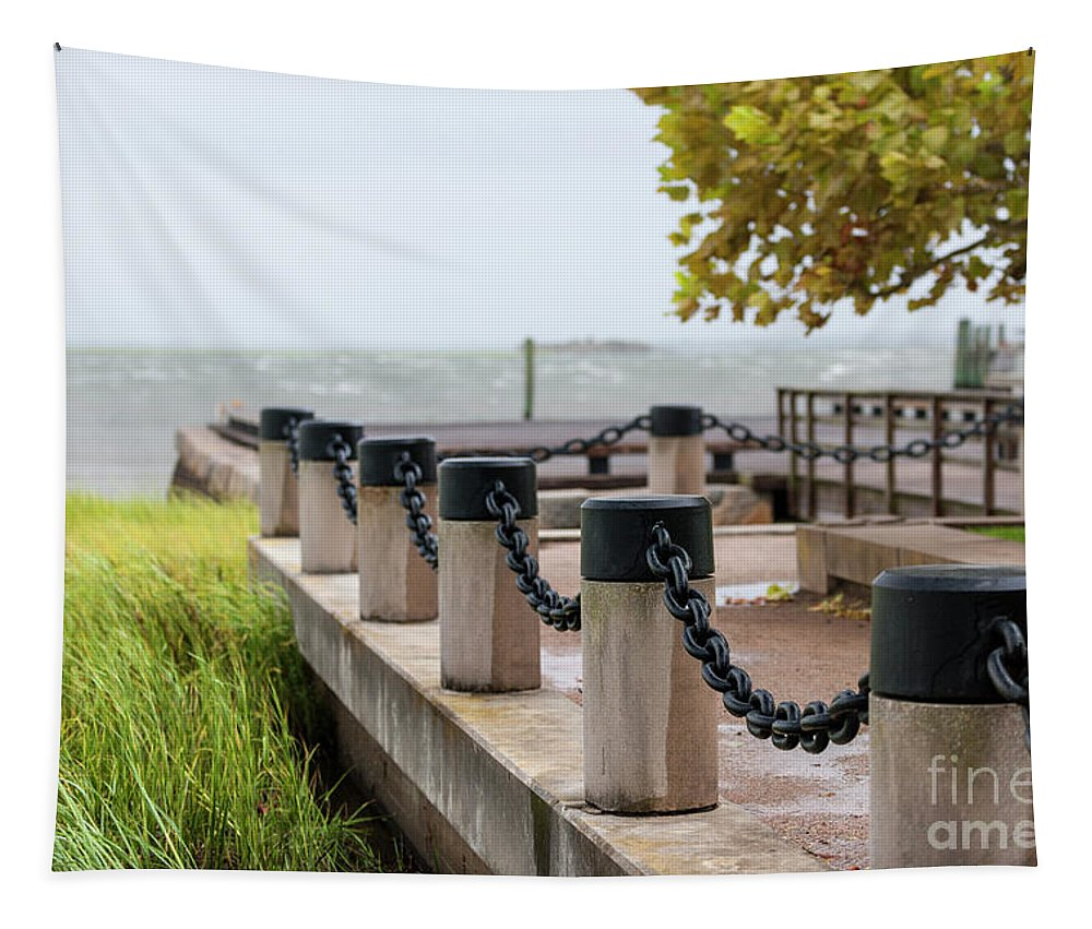 Tropical Storm Hermine Tapestry featuring the photograph Storm Over Charleston by Dale Powell