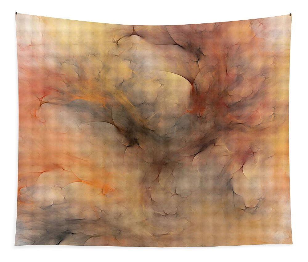 Abstract Tapestry featuring the digital art Stormy by David Lane