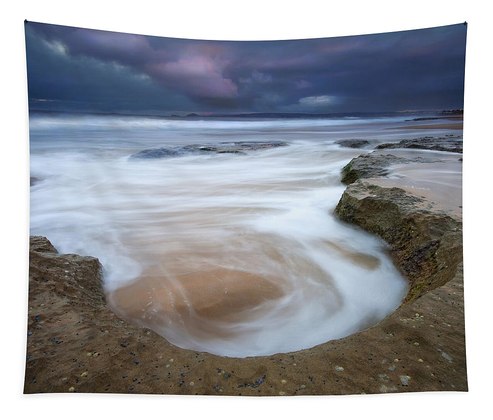 Sunrise Tapestry featuring the photograph Stormy Sunrise by Mike Dawson
