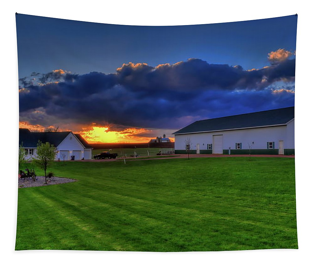 Dale Kauzlaric Tapestry featuring the photograph Stormy Sunset In The Country by Dale Kauzlaric