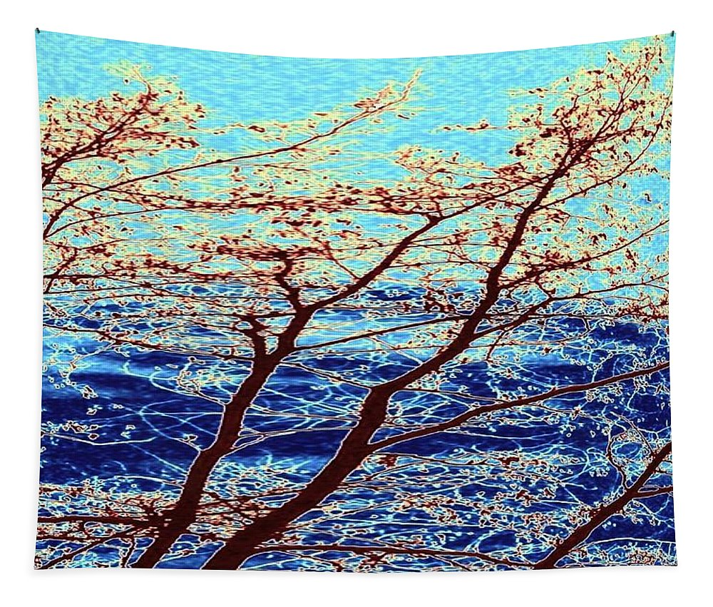 Trees Tapestry featuring the digital art Stormy Weather by Will Borden