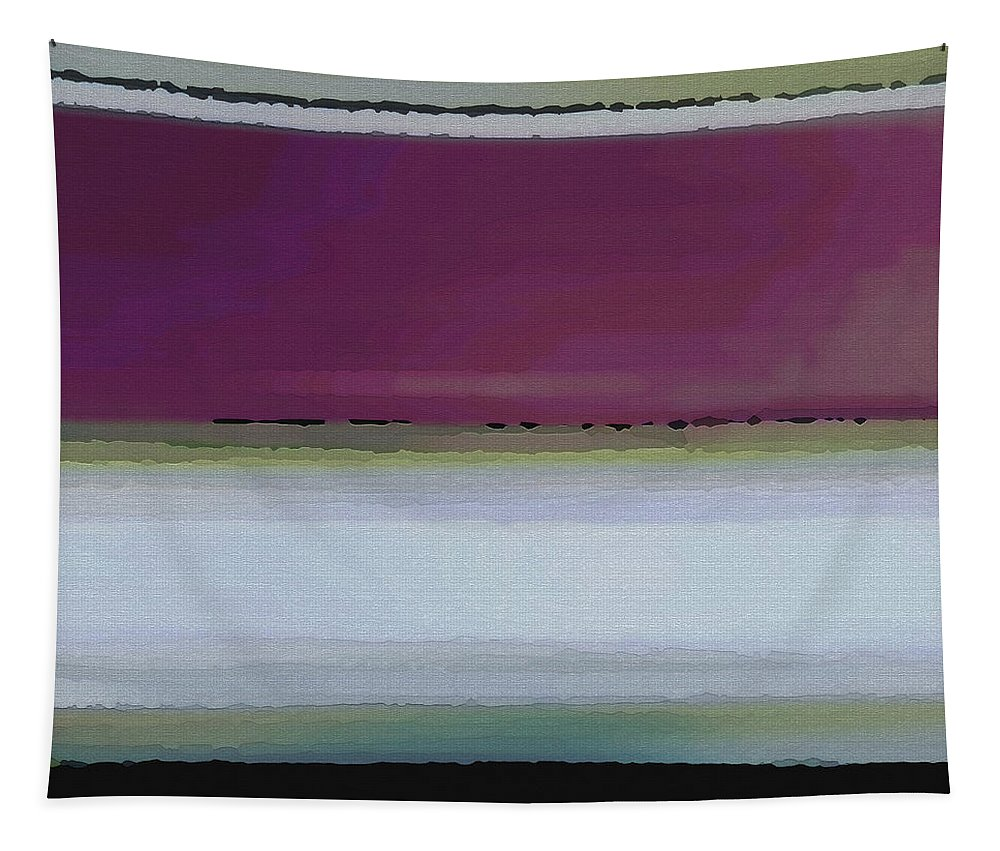 Abstract Tapestry featuring the digital art Straight Across by Ruth Palmer