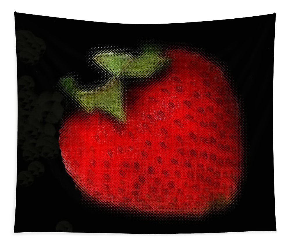 Still Life Tapestry featuring the photograph Strawberry by Linda Sannuti